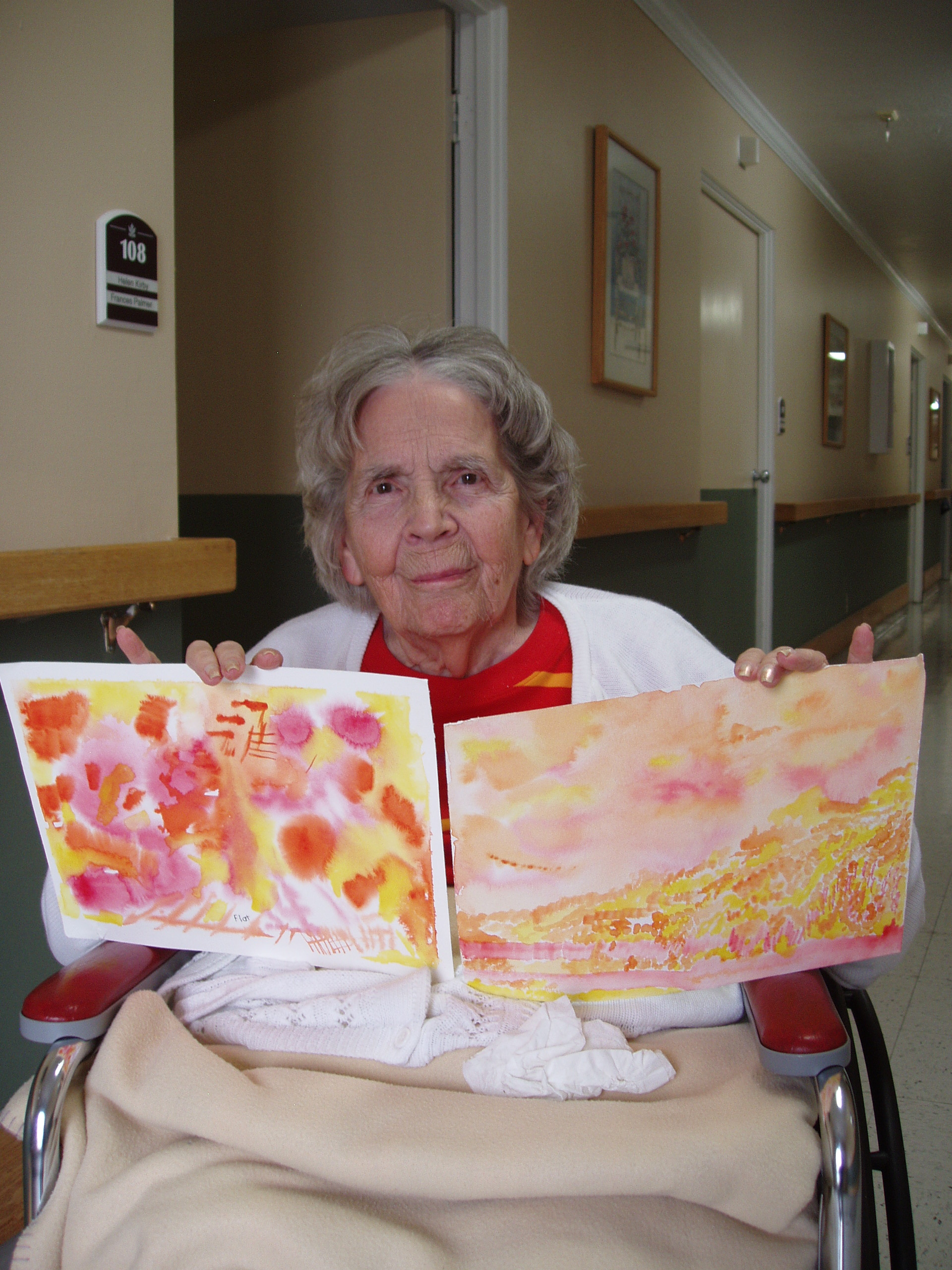 Assisted living residents love their watercolor paintings for Live in caregiver room and board